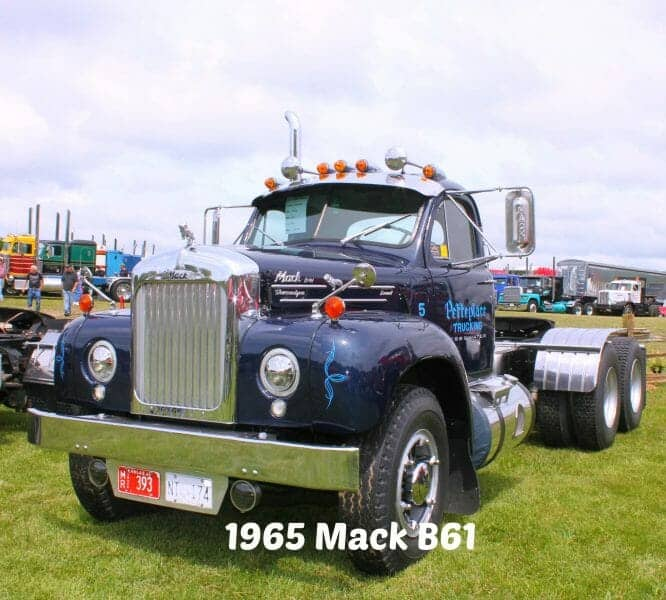 1965 Blue B61 Mack Truck Thermodyne