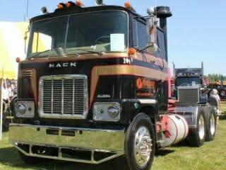 1976 Mack Cabover F700 Model Gold Black Red Truck