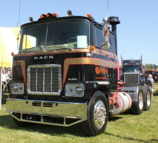 1976 Mack Cabover F700 Model Gold Black Red Truck