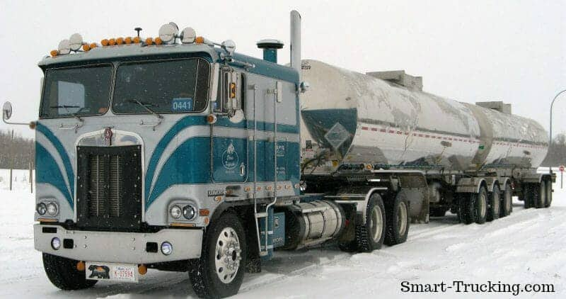 1984 Kenworth Cabover Blue WHite