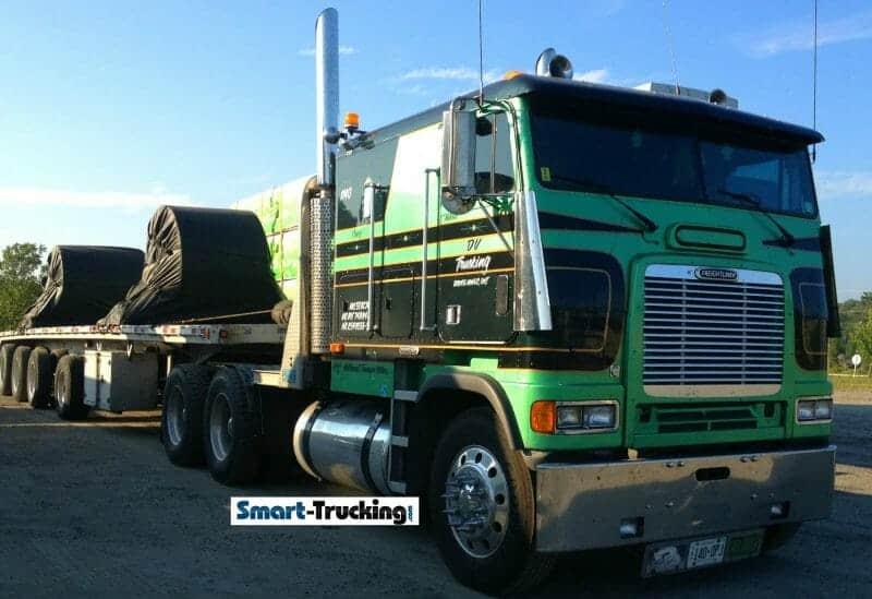 Freightliner Cabover Green
