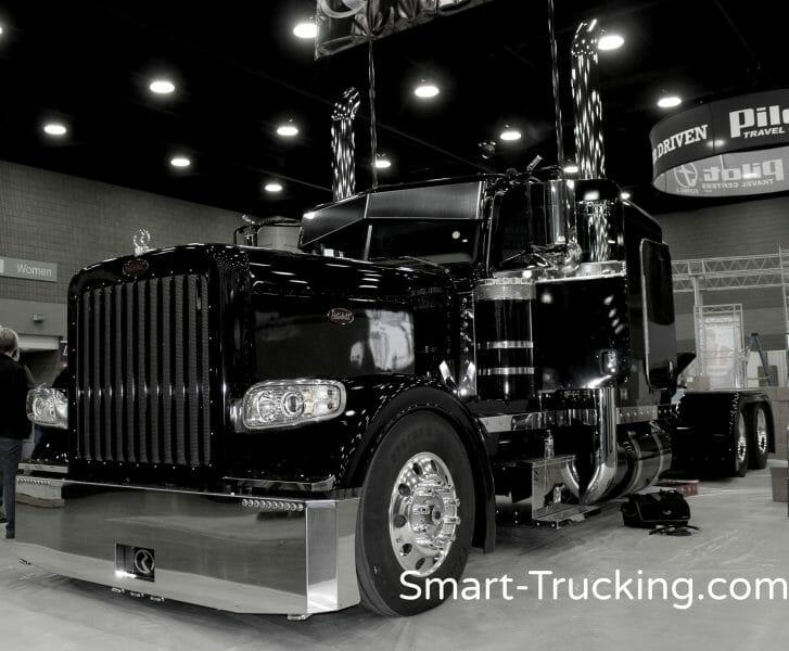 Solid Black 389 Peterbilt Show Truck