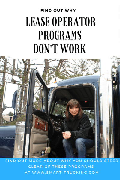 Find Out Why Trucking Lease Operator Programs Don't Work