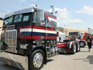 Custom Red White Blue Cabover