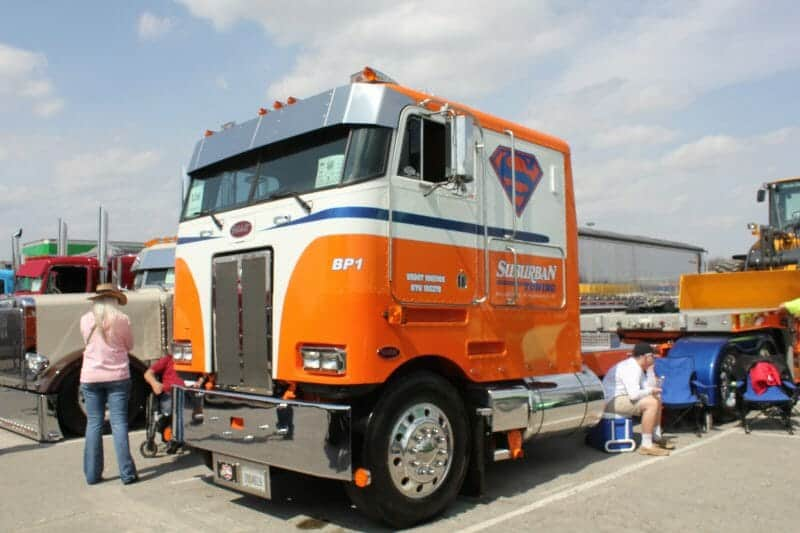 Cabover Peterbilt Orange White