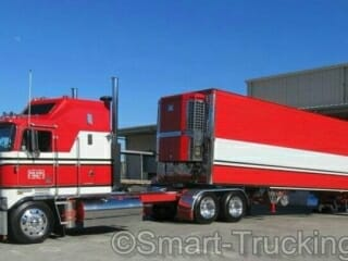 Old School Old School Kenworth K100 Cabover Red White Truck