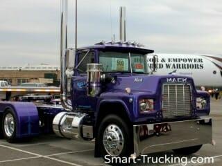 Purple R Model Mack Truck Custom