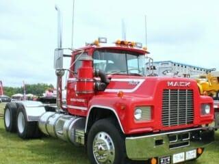Red R Model Mack Truck