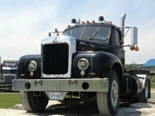 1961 Old Model Black Mack Truck