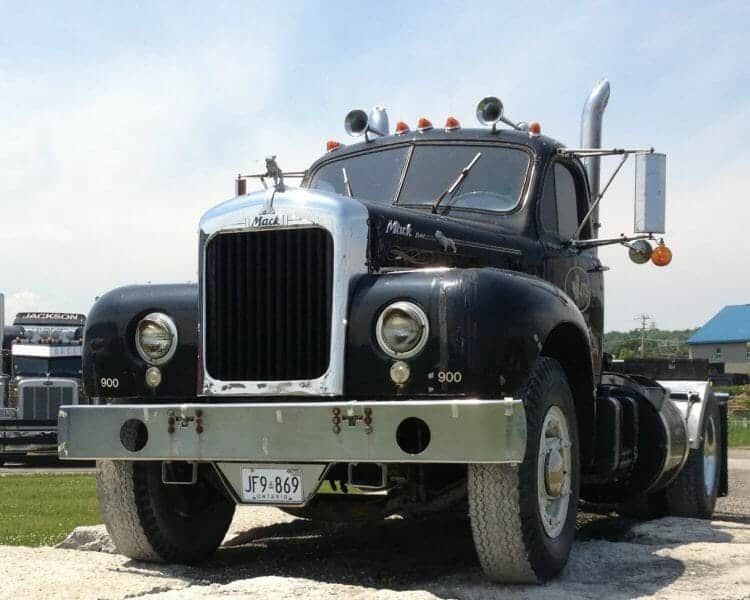 1961 Old Model  Black Mack Truck