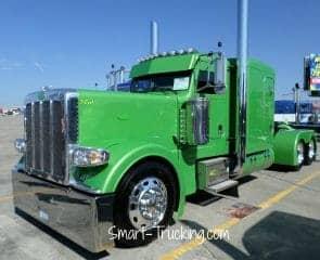 Lime Green Peterbilt Custom 389 Rig