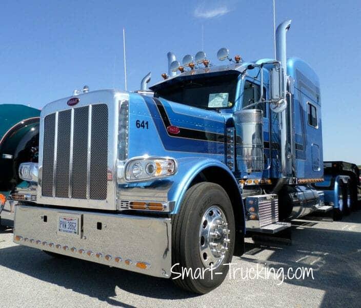 Blue Multistriped 389 Peterbilt 389 Truck