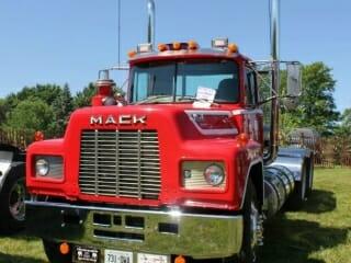 Old Red R Model Mack Truck