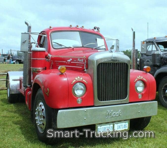 1959 B61 Red Mack Truck