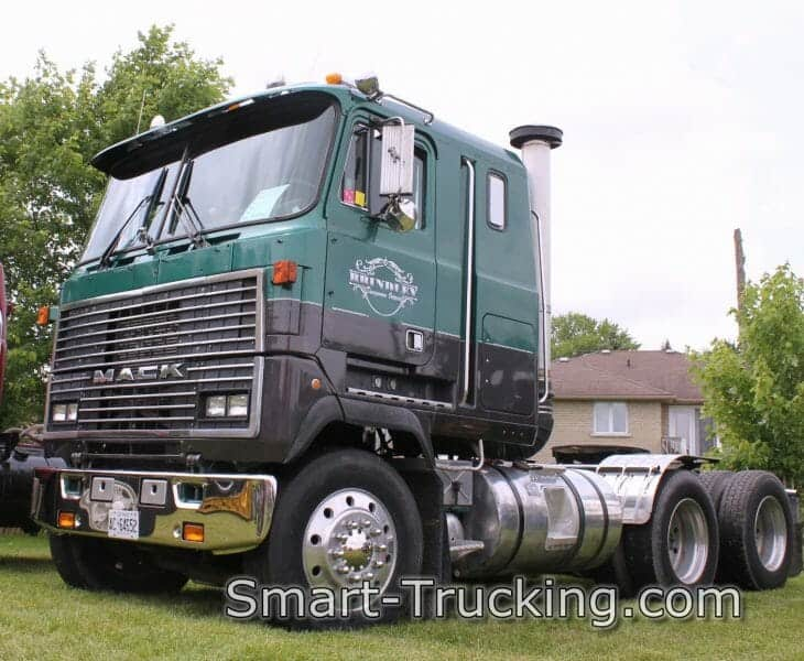 Green Black Mack Cabover Truck
