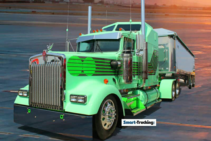 Custom Kenworth Green Truck