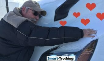 Dave Loves Mega Carrier Trucks Trucker hugging Freightliner