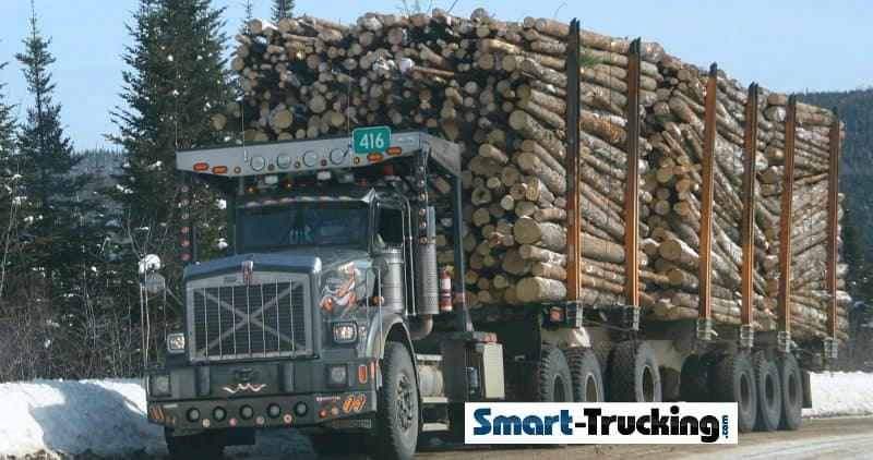 Kenworth Logging Truck With Load of Logs