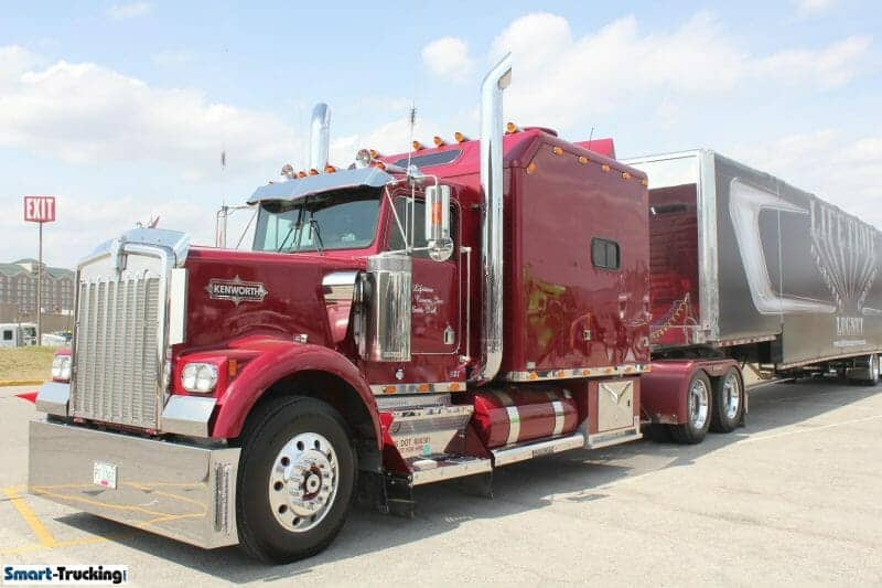 Kenworth Custom Sleeper Berth Truck Red