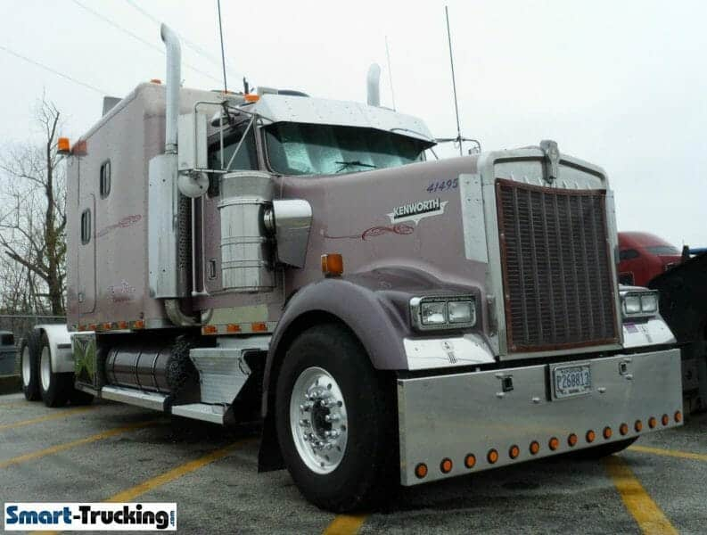 Kenworth W900 Mauve Custom Big Sleeper Berth