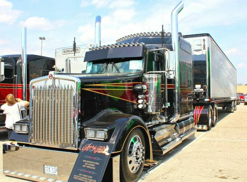 2008 Kenworth W900 Custom Black