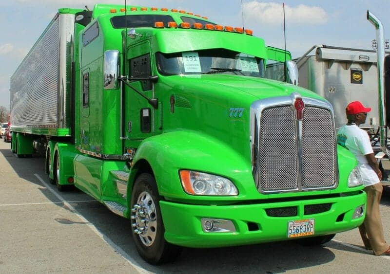 Kenworth Show Truck Lime Green