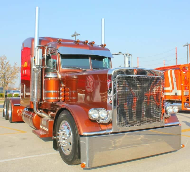 Trucks Custom Big Rig Orange : Big rigs show trucks photo collection custom ultra cool rides