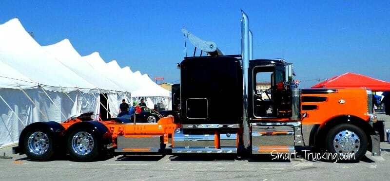 Rigs Show Trucks Peterbilt 389 Orange Black