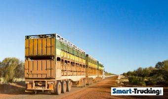 Road Train Australia Bull Hauler Closeup of Trailer