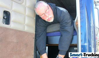 TRUCK DRIVER SICK IN BUNK OF TRUCK