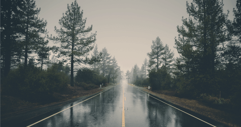 Freezing Rain on Highway