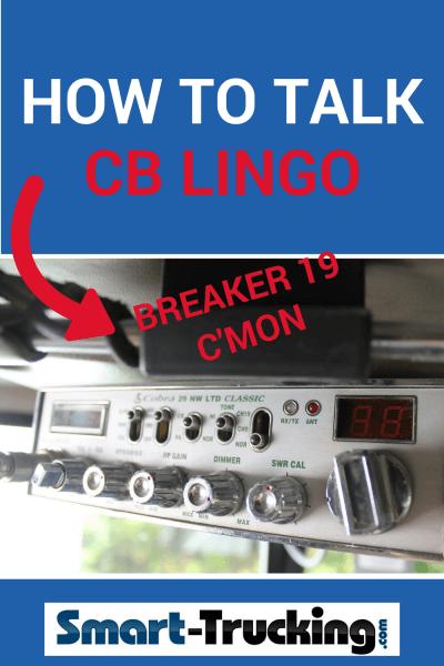 How to Talk CB Lingo