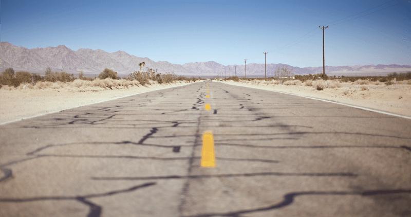 Barren Highway in Desert