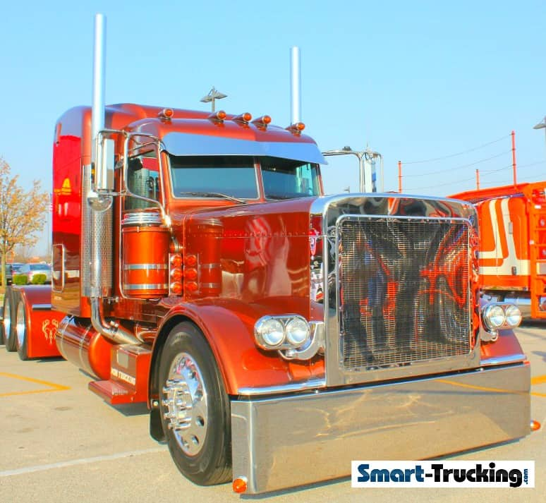 Old School Peterbilt 379 Rust Orange