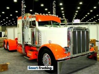 Peterbilt 379 Orange White Show Truck