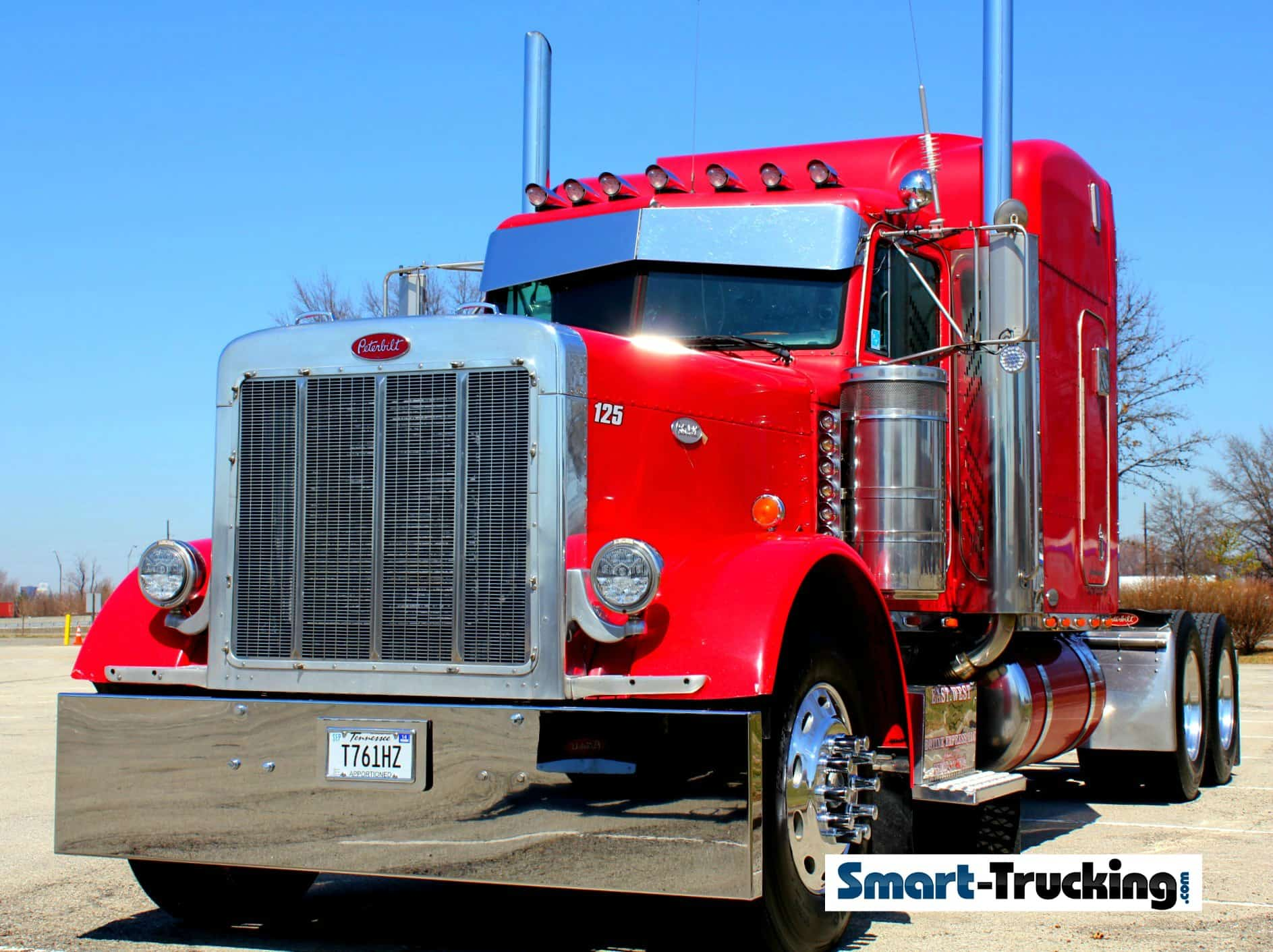 Red 379 Peterbilt Old School Look