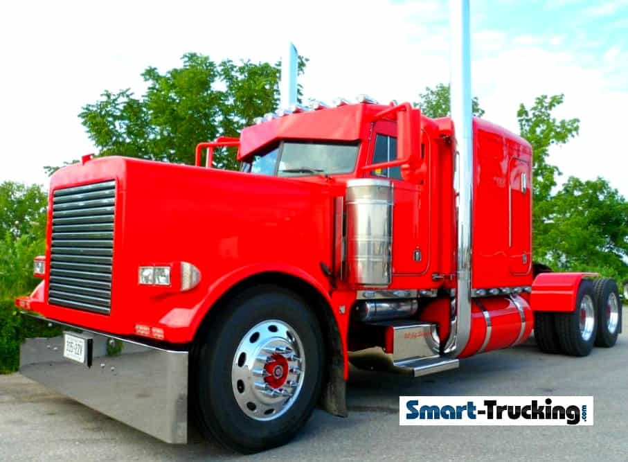 Red Peterbilt 379 Custom MonocolourSIZED
