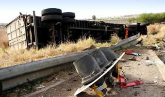 Truckers Can Avoid Stupid Accidents - Big Rig Rolled on its side