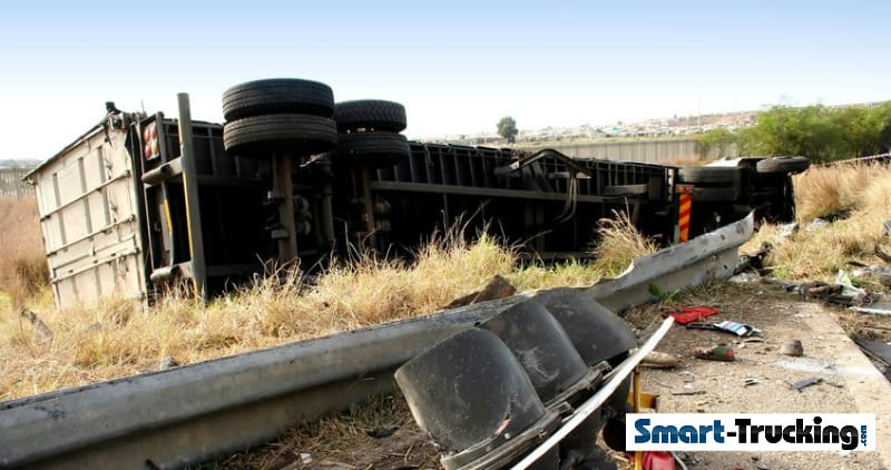 Truck Roll Over Accident