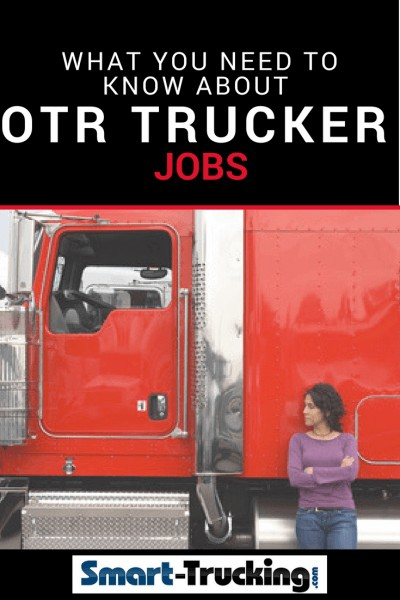 REd Big Rig and lady truck driver
