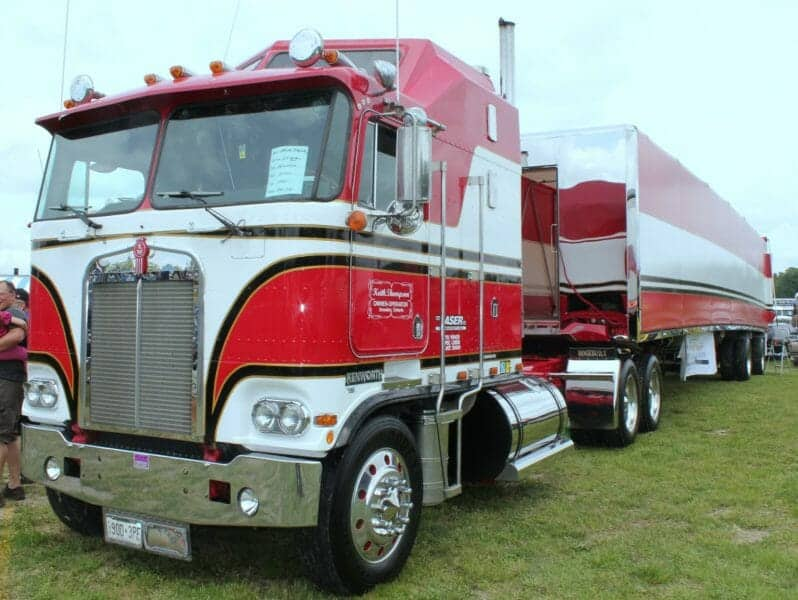 1985 Kenworth Cabover K100 Model with Trailer