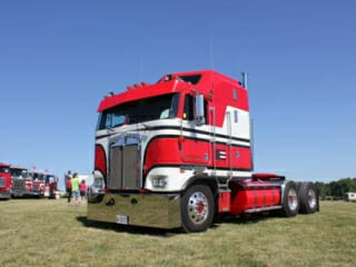 Red White K100 Kenworth Cabover Classic Model