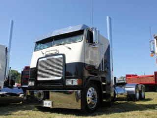 Freightliner Cabover Cream and Black