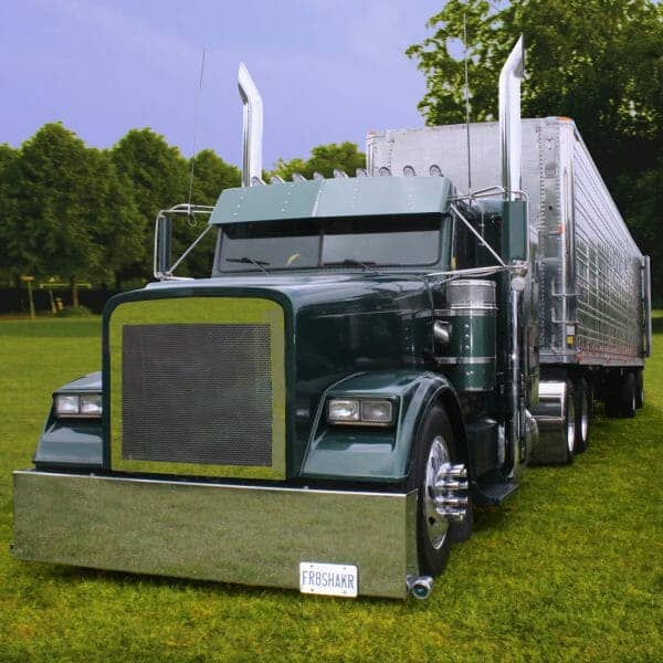 Green Conventional Freightliner Custom