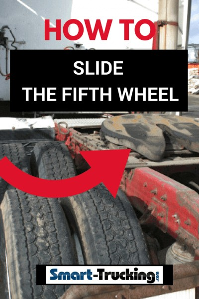 how to slide the fifth wheel on a big rig