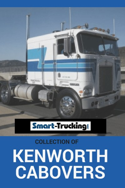 KENWORTH CABOVER BLUE WHITE