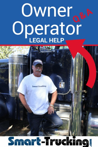 OWNER OPERATOR LEGAL HELP TRUCK OWNER STANDING BY BLUE TRUCK