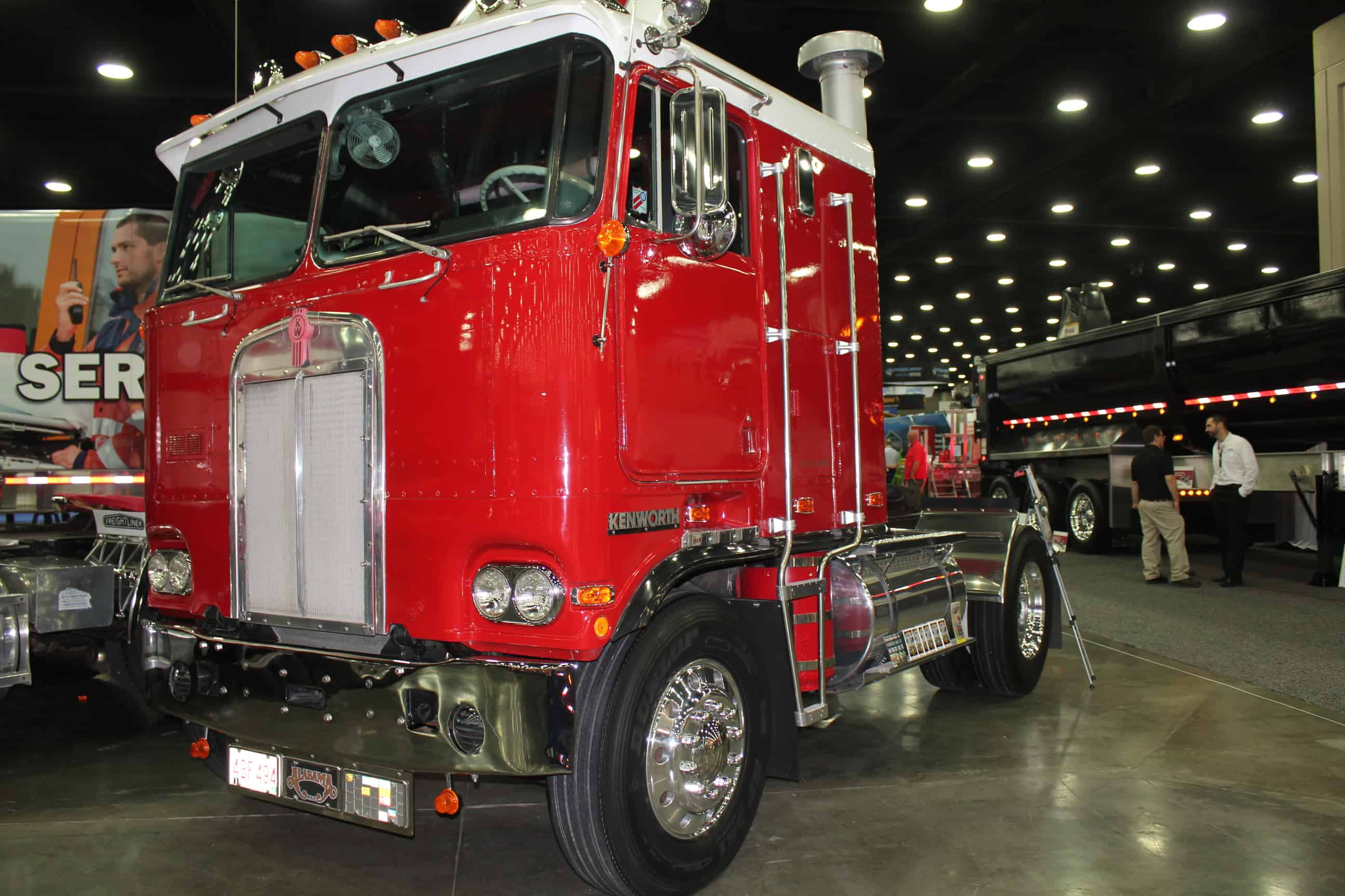 Old Red Kenworth Cabover Truck