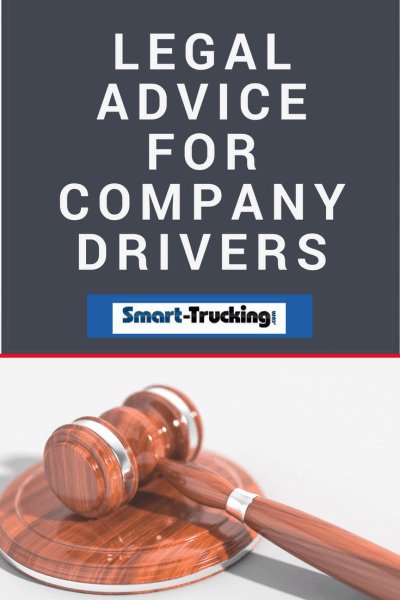 LEGAL ADVICE FOR COMPANY DRIVERS