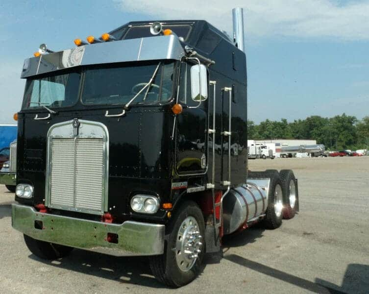 Old Black Kenworth Cabover